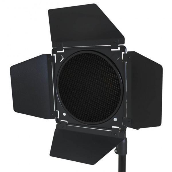 Barndoor Rebatedor P/ Flash F-300 De300 Greika C/ 4 Filtros