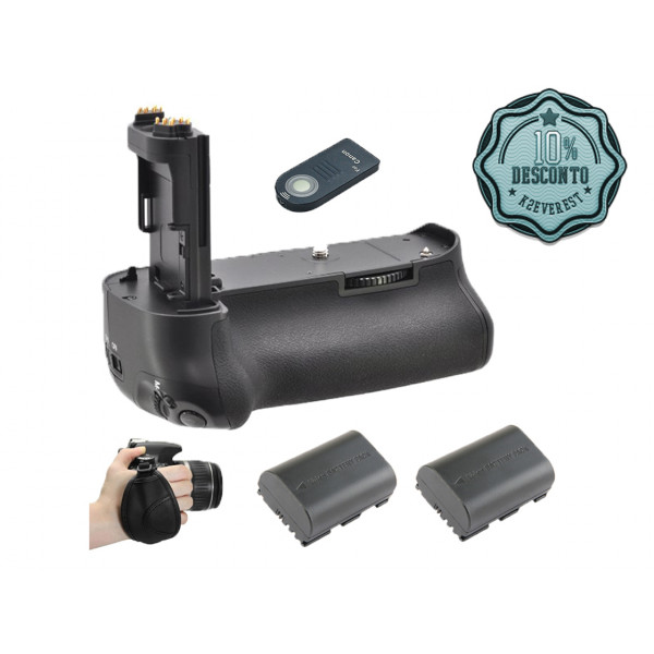 Kit Battery Grip 5D MKIII Alça Mão + Bateria + Controle +Nf