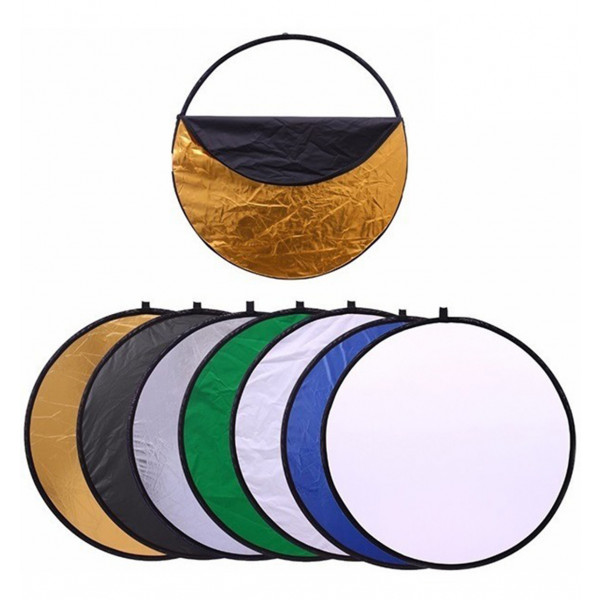 Disco Rebatedor E Difusor Circular 7 Em 1 de 110 cm + Bolsa