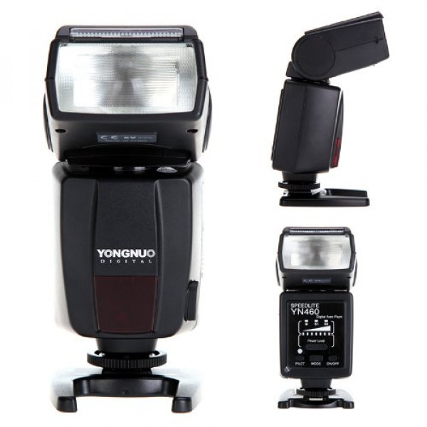 Flash Yongnuo Yn460 Para Nikon Canon +Difusor Speedlite +Nf
