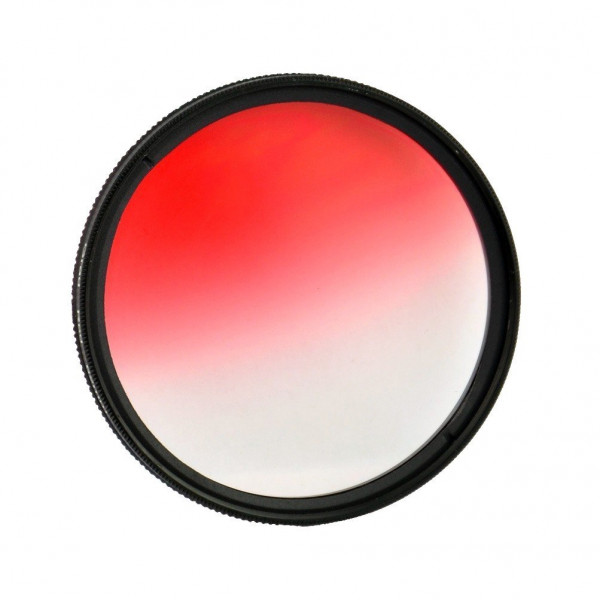 Filtro Gradual Vermelho 58mm 18-55mmCanon 60D T5i 70D 700D