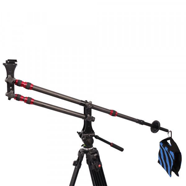 Grua Filmagem Portatil Leve Fibra de Carbono até 10kg Dslr