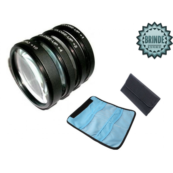 Kit Lentes Close-up Macro +1+2+4+10 52mm 18-55mm D7000 D5200