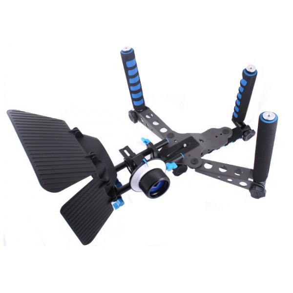 Super Kit Dslr Follow Focus + Connector + Matte Box + Spider