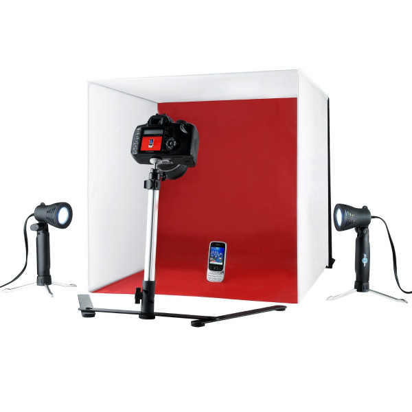 Mini Estudio Fotografico Portatil Easy 50 Cm 110 Volts + Nf