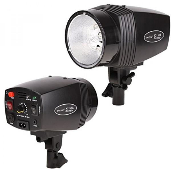 Kit Iluminação Tripé 2m Flash 150W + 3 Sombrinhas +Suporte