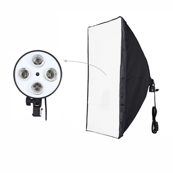 Softbox com Socket E27 Quadruplo Iluminação Fotográfica