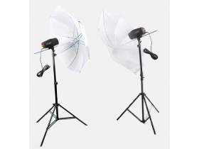 Kit Apolo Estudio 2 Tripés 2 Flashes 300w 110v Sombrinha