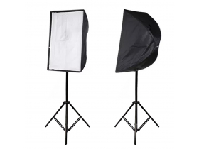 Kit Softbox Sombrinha 60x90 + Tripé + Suporte p/ Flash