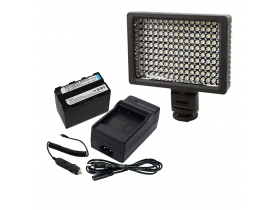 Kit Led HD 160 + Bateria Fp970 + Carregador Garantia + Nf