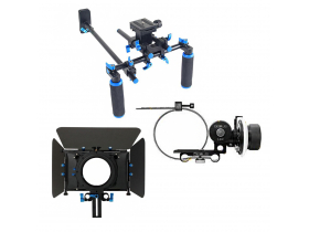 Kit Suporte de ombro Shotgun + Matte Box Follow Focus - Nf