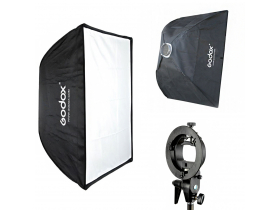 Kit Softbox Godox 70x100 Bowens + Suporte Speedlite
