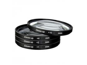 Kit Lentes Close-up Macro +1+2+4+10 72mm 28-135mm 60D 70D 7D