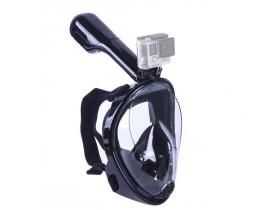 Mascara Mergulho Snorkel Com Suporte P/ Gopro Câmera De Ação