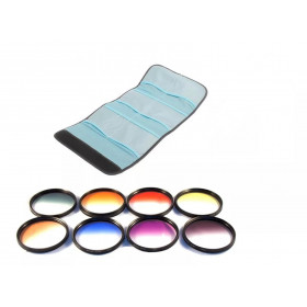 Kit Filtro Cor Gradual 72mm Todas as Cores 28-135mm Canon